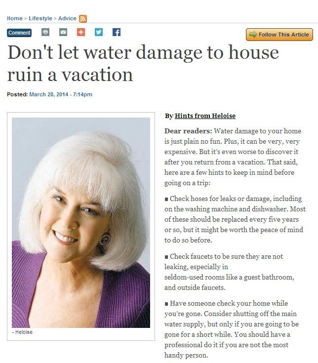 dont let water damage to house ruin a vacation