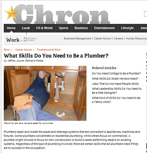 Skills to be a Plumber