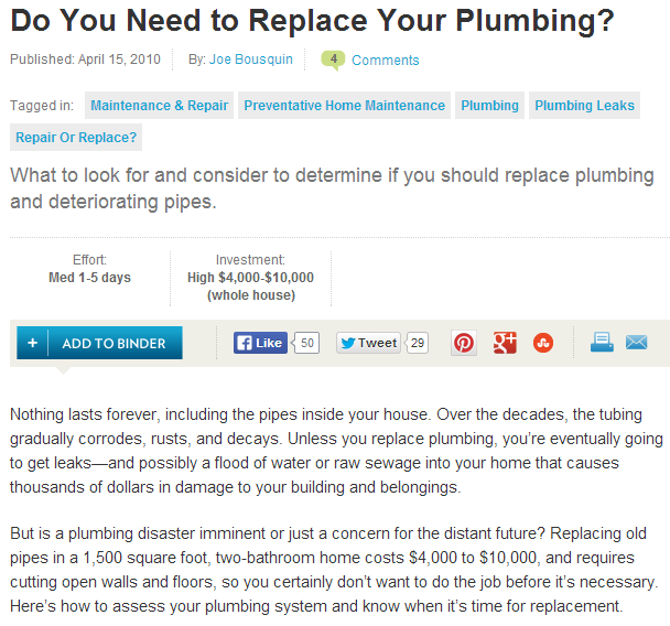 do you need to replace your plumbing